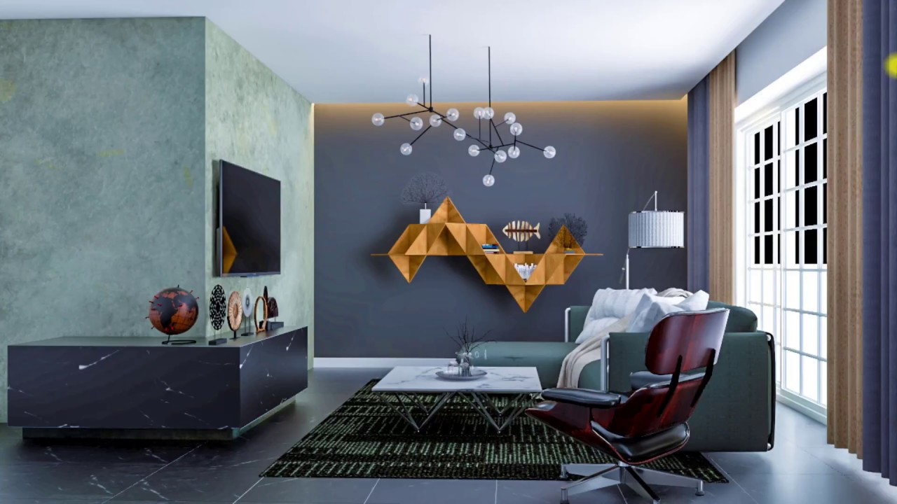 vray tutorials Nice Living Room 010 Render