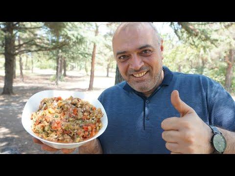 Армянский шашлык из овощей (Салат хоровац) | Курица на углях