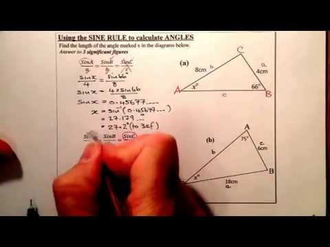 Access youtube sine rule calculating an angle national 5 trigonometry ccuart Gallery