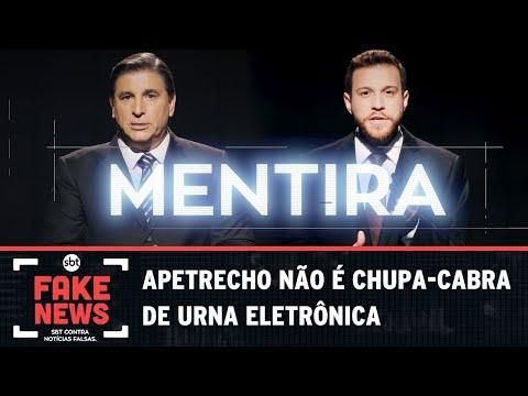 SBT Contra Notícias Falsas: Apetrecho não é chupa-cabra de urna eletrônica
