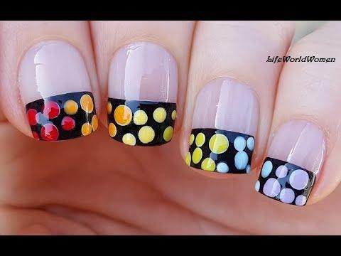 How To Paint Needle Heart French Nail Art Easily French Manicure Designs Lifeworldwomen Youtube,Lehenga Blouse Designs Back Hook