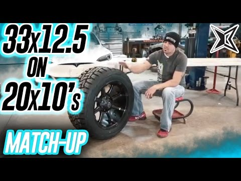 Ram 2500 For Sale >> Custom Offsets Match Up: 33x12.5 on 20x10's - YouTube