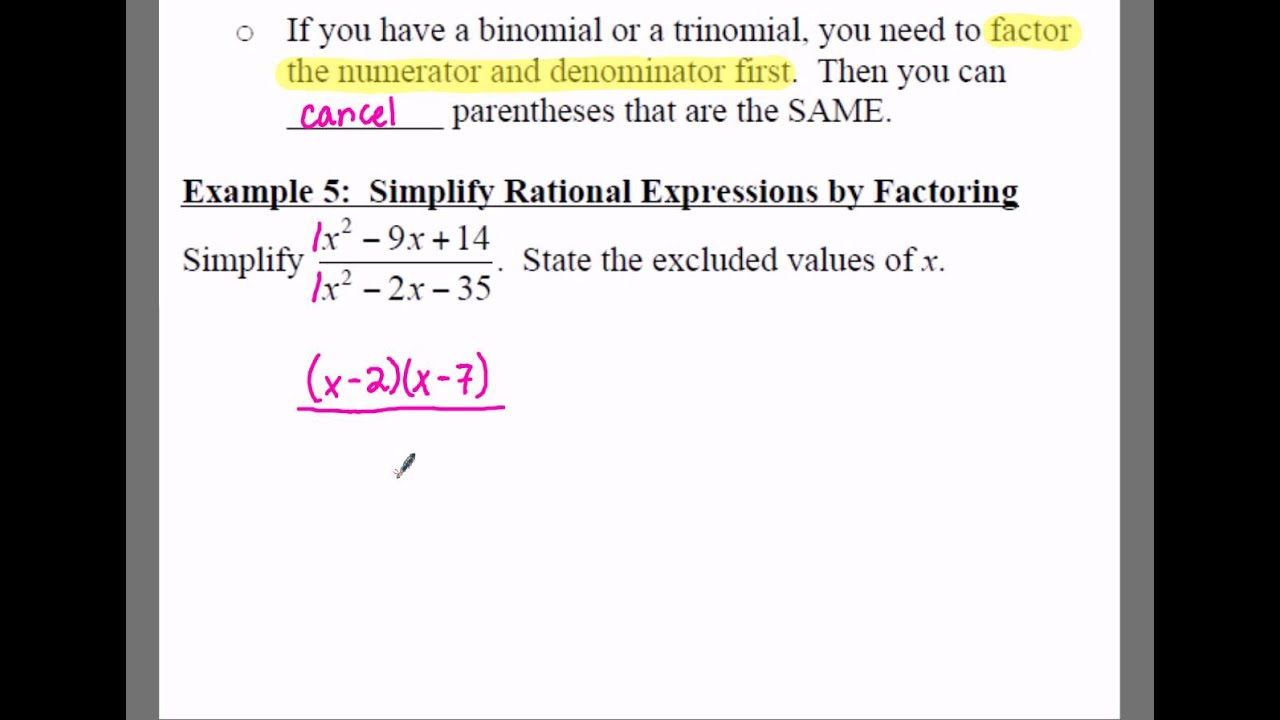 Scroll Down To Read : How To Factor Rational Functions By Ben Aaronovitch