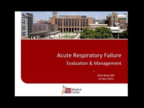 SIR-RFS Webinar (4/10/12): Acute Respiratory Failure Evaluation & Management