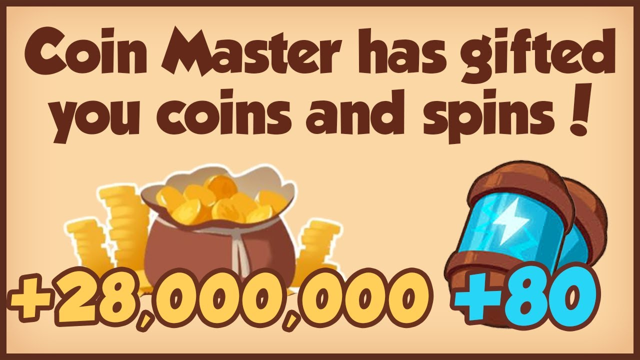 COIN MASTER FREE 80 SPINS + 28M COINS 25.02.2021