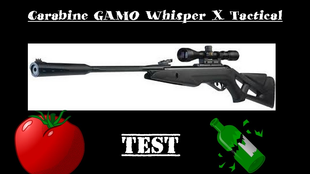 Carabine GAMO Whisper X Tactical (TEST)- GoPro HD