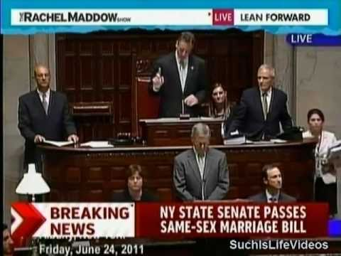 Rachel Maddow - New York State Senate Passes Same-Sex Marriage Bill