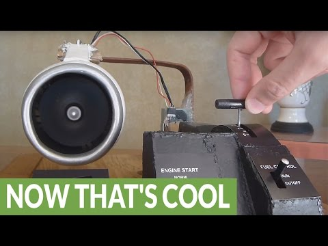 Homemade electric jet engine actually works!