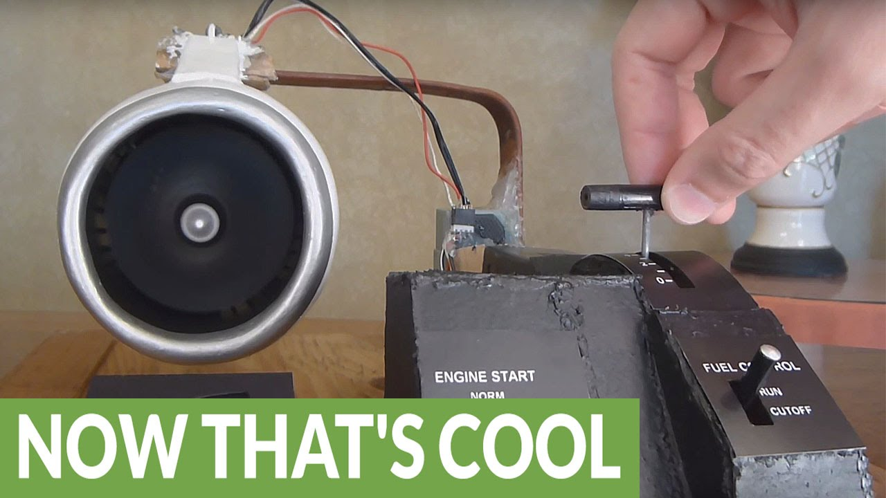 Homemade Electric Jet Engine Actually Works Youtube