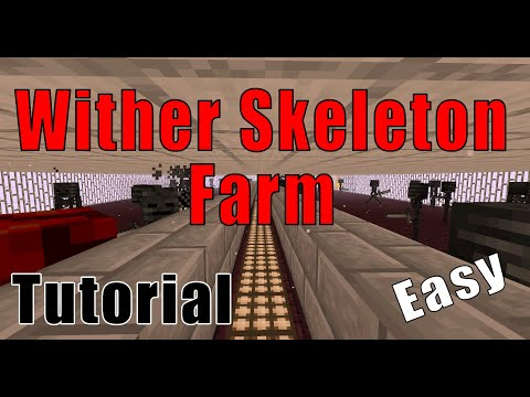 Minecraft WITHER SKELETON Farm (how to get wither skeleton heads + XP) | No wither rose