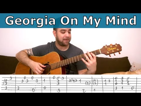 Fingerstyle Tutorial: Georgia on My Mind - Guitar Lesson w/ TAB