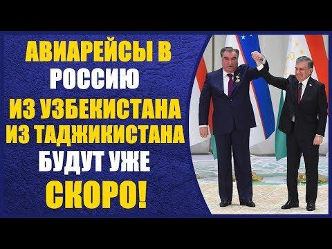 СРОЧНО!! Узбекистан и Таджикистан планируют уже совсем скоро летать в Россию