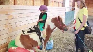 Toddler LOVES Ponies #3 - Cutest little rider!