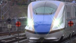 北陸新幹線 E7系 東北新幹線内 試運転 一ノ関駅通過映像 Shinkansen test run thumbnail