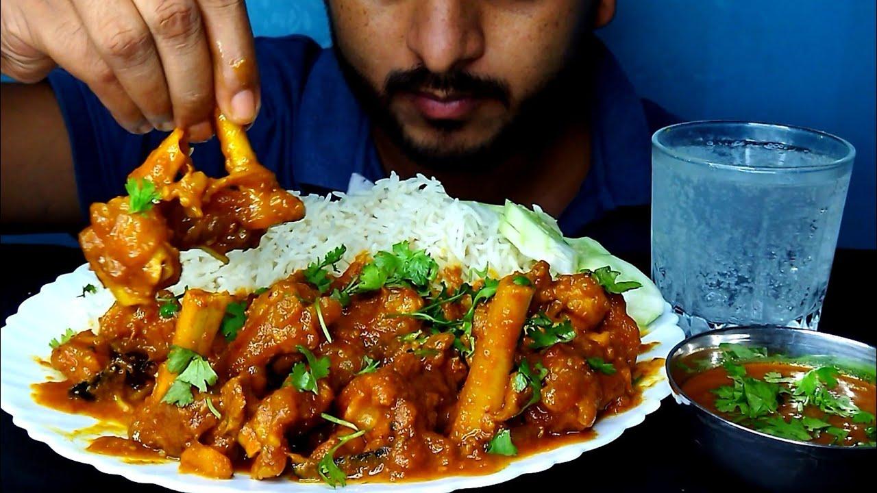 Ohh! Oily Mutton Paya Eating | Basmati Rice And Extra Gravy | @BhukkhadBoy