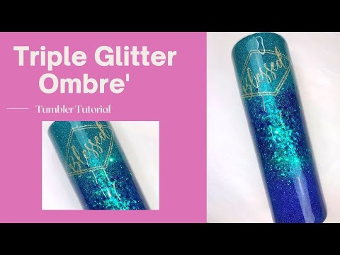Kaycee Triple Threat Color Shift Ombre' Tumbler Tutorial
