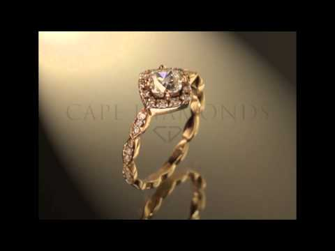 CAPE TOWN DIAMONDS VINTAGE ROSE GOLD ENGAGEMENT RING