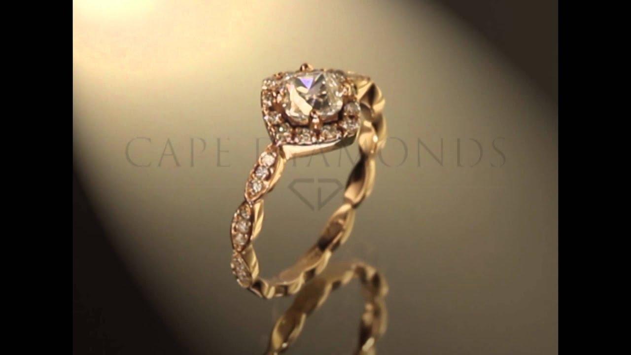 CAPE TOWN DIAMONDS VINTAGE ROSE GOLD ENGAGEMENT RING CDvIN001