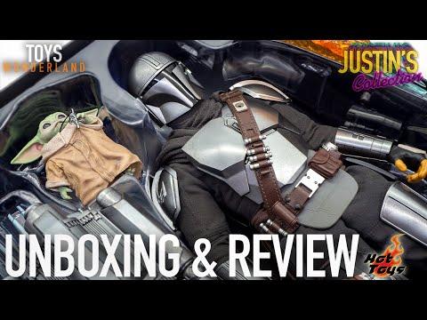 Hot Toys Mandalorian Beskar Armor  & The Child / Grogu Star Wars Unboxing & Review