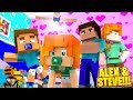 Minecraft LIFE OF ALEX & STEVE - NAMING THE TWIN BABIES!!!