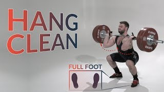 Hang CLEAN / weightlifting & crossfit