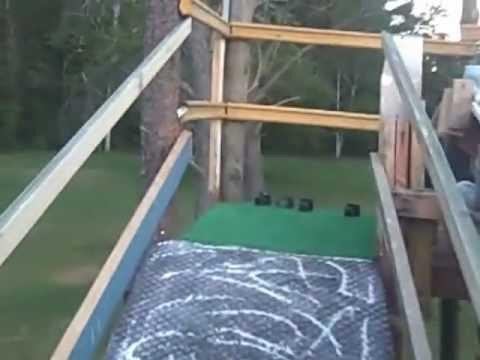 How To Build a Homemade Slip-N-Slide Water Slide Ramp for ...