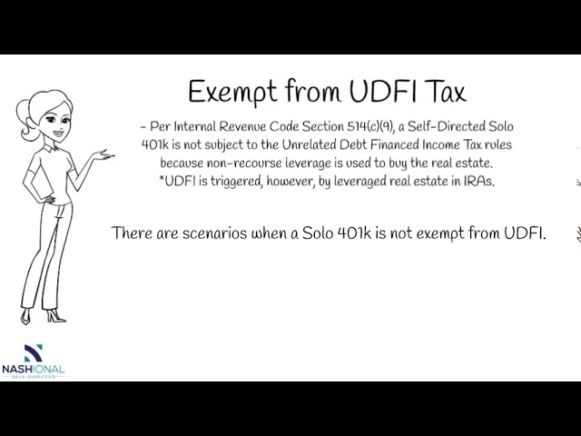 Are Self Directed Solo 401ks Subject to UDFI Tax