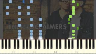Proclaimers - 500 Miles (I'm gonna be) Easy Piano Tutorial Synthesia