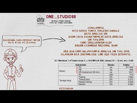 Bagaimana Cara Membuat Komposisi Beton Mutu K 225 Youtube