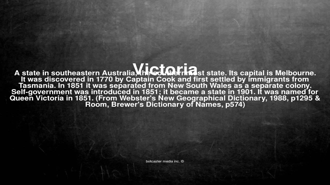What does the name Victoria mean 14