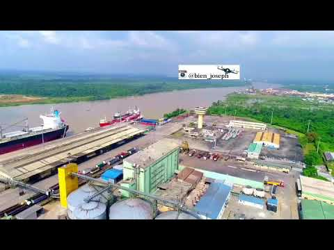Drone Shot Of Nigerian Port  Authority, Delta State