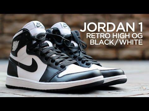 Closer Look  Air Jordan 1 Retro High OG - Black White - YouTube aa55ecd09