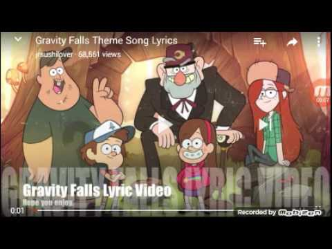 gravity falls theme song video