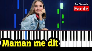Angelina - Maman me dit - Piano Facile Karaoké (AuPiano.fr)