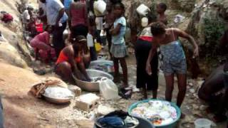 Water source in Haiti