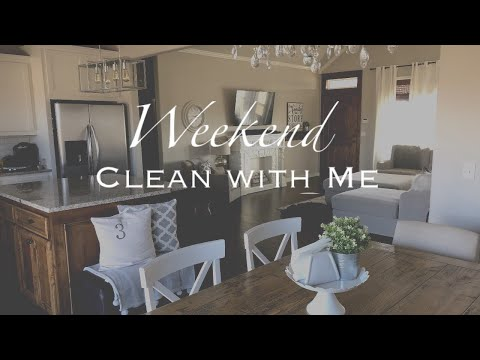 CLEAN WITH ME | WHOLE HOUSE | WEEKEND CLEANING