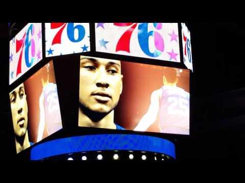 76ers 2016-2017 Player intos vs the OKC Thunder