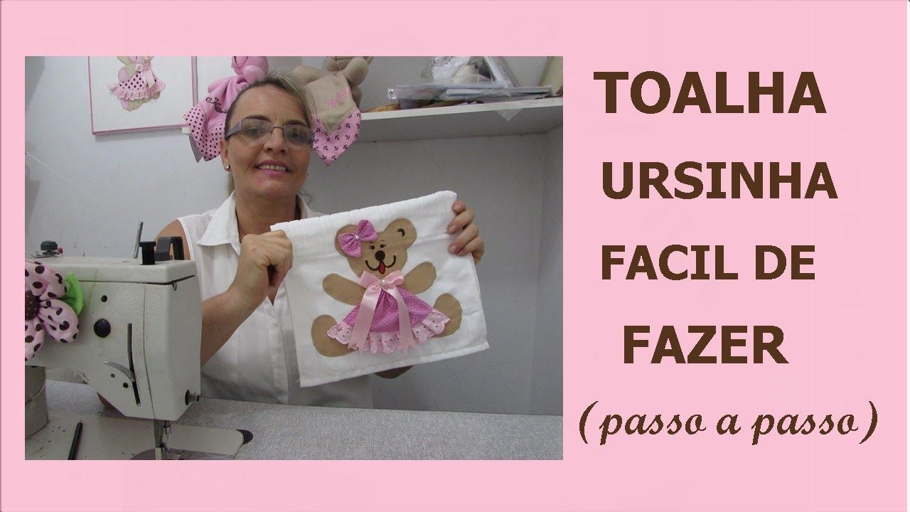 Aparador Com Gavetas Para Quarto ~ Toalha ursinha em aplicaç u00e3o,,facil,rápido e baroto!!!! YouTube