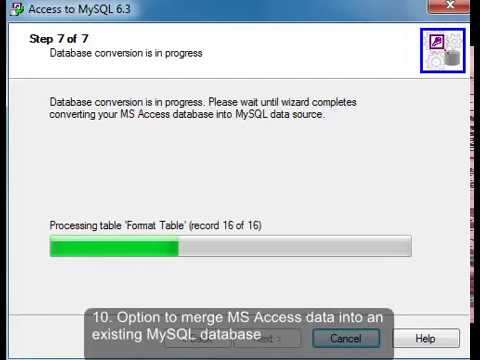 how to connect ms access to mysql database