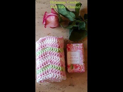 Crochet Quick and Easy Beginner Matching Ripple Tawashi Dish Towel DIY  Tutorial