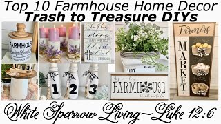 Top 10 Diy Farmhouse Home Decor Trash To Treasures / Upcycles Using Dollar Tree   Items