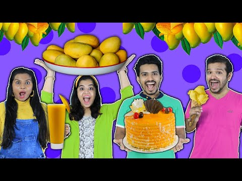 We Ate Only Mango For 24 Hours Challenge   Hungry Birds
