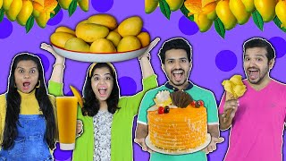 We Ate Only Mango For 24 Hours Challenge | Hungry Birds