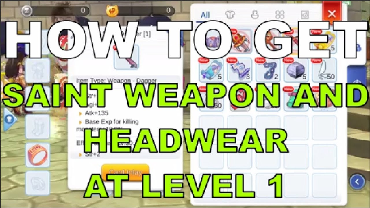 How to get Saint Weapon and headwear at Level 1 in Ragnarok M Eternal Love