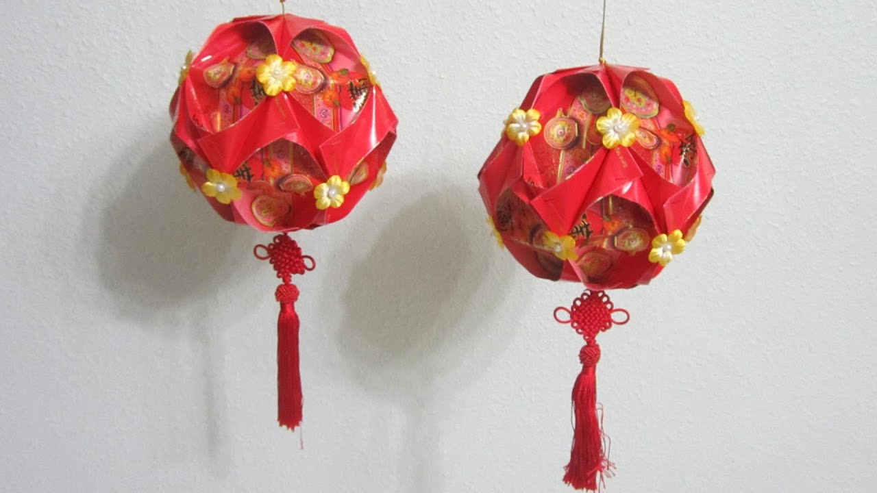 Lunar new year crafts - 9 Chinese New Year Red Packet Hongbao Lantern Youtube