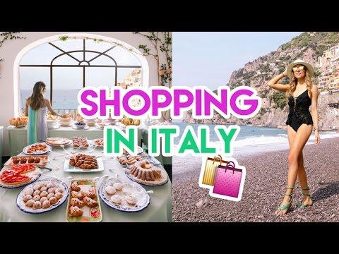 Shopping in ITALY! | Amelia Liana Travel Vlog