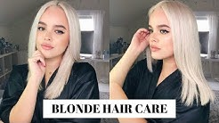 HOW TO KEEP BLEACH BLONDE HAIR HEALTHY! UPDATED HAIR CARE ROUTINE   CassidySecrets