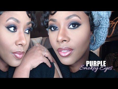 Sultry Smokey Purple Eye Tutorial  MakeupMesha