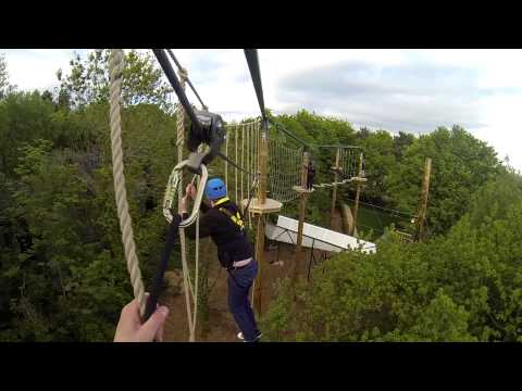 Tree Top Quest High Ropes Course HD POV Alton Towers