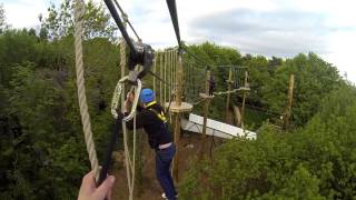 Tree Top Quest High Ropes Course POV Alton Towers